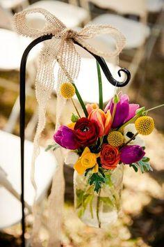 Vibrant Outdoor Fall Wedding Wedding Flowers Photos on WeddingWire