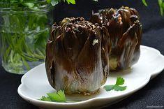 Con sabor a canela: Alcachofas al horno Pudding, Desserts, Food, Ideas, Canela, Baked Artichoke, Vegetables Garden, Recipes With Vegetables, Salads