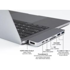 World's most crowdfunded MacBook accessory and USB-C hub. Turns two USB-C into 7 ports on MacBook Pro & Air. Specifications Best Selling USB-C HubWorld's Most Crowdfunded MacBook and USB-C accessory… Macbook Pro 13, Macbook Air Stickers, Macbook Laptop, New Macbook, Apple Macbook Pro, Apple Laptop, Laptop Bags, Laptop Backpack, Macbook Pro Setup