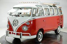1971 Volkswagen Bus Vanagon 21 Window for Sale. Red & White. #VolkswagenBus #1971VolkswagenBus