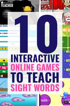 These 10 online games to teach sight words are completely free! They are student tested and teacher approved for getting tons of practice and repetition. game, 10 Interactive Online Games to Teach Sight Words to Beginning Readers Learning Sight Words, Sight Word Activities, Sight Word Practice, Sight Word Games Online, Second Grade Sight Words, Planning School, Word Bingo, Kindergarten Games, Free Online Preschool Games