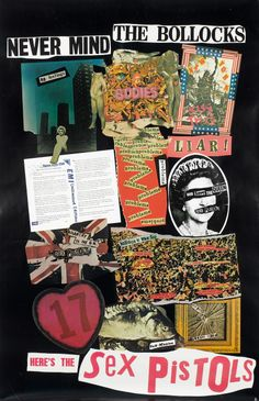 Jamie Reid Sex Pistols collage 1977.