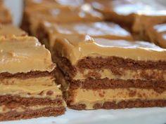 Birthday cake for boyfriend! chocolate cookies cream cheese, dulce de leche and whipped cream!
