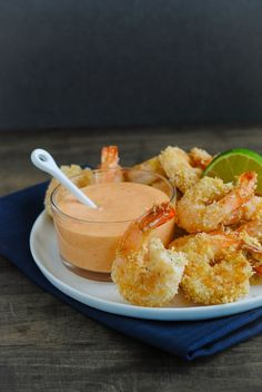 Baked Coconut Shrimp with Creamy Sweet Chili Sauce