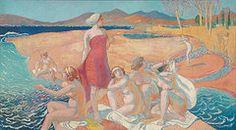 Ulysses Paintings - Le Reveil de Ulysse  by Maurice Denis