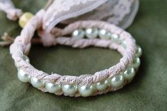 Lace and Pearl Bracelet Craft