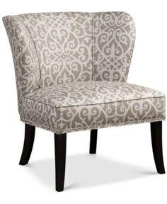 Janie Armless Accent Chair, Quick Ship - Tan/Beige