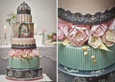 Elaborate Birdcage Wedding Cake with Sugar Peonies - by CocoaMoiselle @ CakesDecor.com - cake decorating website