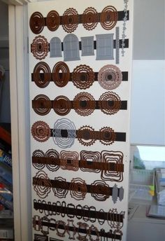 #crafting #craftrooms and #storage & #organization ideas: #DIY #dies storage using magnetic strips