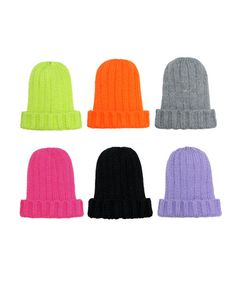 4833464b1ae Knitted Hat in Neon Color