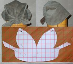The best DIY projects & DIY ideas and tutorials: sewing, paper craft, DIY. DIY Women's Clothing : modello e schema taglio per cucire bandana cappellino vintage -ReadVintage sewing template: Italian pattern for Bandana Vintage, a style kerchief hat wi Sewing Tutorials, Sewing Hacks, Sewing Crafts, Sewing Projects, Diy Crafts, Doll Patterns, Clothing Patterns, Sewing Patterns, Sewing Clothes