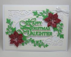 Happy Christmas Daughter topper silhouette studio on Craftsuprint - Add To Basket!