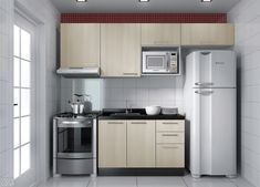 Dazzling Tiny Kitchen Ideas You'll Admire Is it really tricky to decorate a small kitchen? Well, not at all after you check these tiny kitchen ideas out! Check this out and find the trick! One Wall Kitchen, Basement Kitchen, Studio Kitchen, New Kitchen, Mini Kitchen, 1970s Kitchen, Vintage Kitchen, Kitchen Furniture, Kitchen Interior