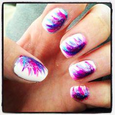 Love these!! #nails #whitebackground #vibrantcolors