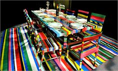 The Diffa Dining by Design Show and Dinner - discarded furniture and duct tape by Slade Architecture