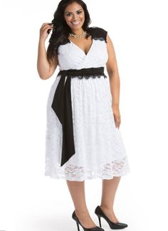 adf6fd6a8bd Black and white party dress plus size - https   letsplus.eu