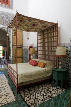 Moroccan bedroom in a Tangiers riad. No comment.