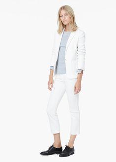 Veste en coton texturé | MANGO