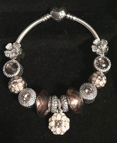 #Pandora bracelet with blush pink charms #pandorapassion #PandoraPassion