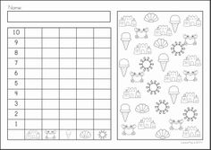 Spring Kindergarten Math and Literacy Worksheets & Activities Distance Learning Graphing Worksheets, Free Kindergarten Worksheets, Free Preschool, Worksheets For Kids, Kindergarten Math, Math Literacy, Math Activities, Repeated Addition Worksheets, Classroom
