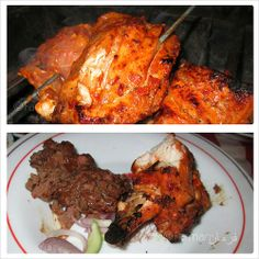 BBQ'ued spicy chicken tikka with seekh kabab