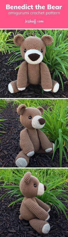 Benedict the Bear Amigurumi Pattern