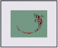 Counted Cross Stitch Pattern  Zen Koi Fish  by StringPlayground