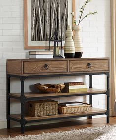 Look at this Coffee Trenton Console Table on #zulily today!