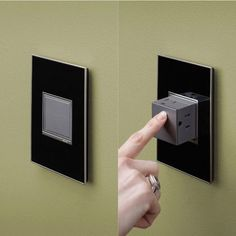 Outlets that pop out and then push back in for a ...