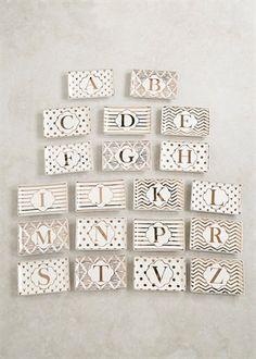 Alphabet Jewellery Dish (7cm x 6cm)