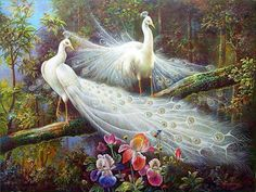 White-Peacock-Painting
