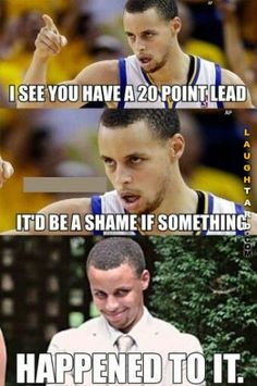 Lol steph curry funny sports memes, sports humor, cheerleading for kids, team mom Funny Nba Memes, Funny Basketball Memes, Sport Basketball, Basketball Quotes, Love And Basketball, Really Funny Memes, Funny Quotes, Curry Basketball, Basketball Playoffs