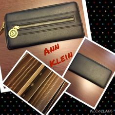 Ann Klein Black wallet NWT Just in Ann Klein wallet NWT very classy black wallet with signature lion on zipper  Ann klein Bags Wallets