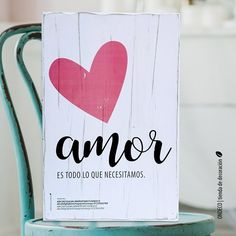 Cuadro vintage con frase - Amor es todo lo que necesitamos - comprar online Calligraphy Quotes Doodles, Prayer Garden, Bedroom Posters, Love Is Everything, Love Phrases, Painted Rocks, Ideas Para, Wood Signs, Decoupage