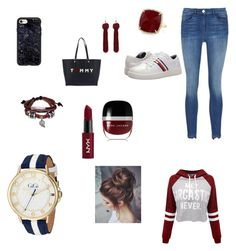 """Sans titre #169"" by lea-lessertisseur on Polyvore featuring mode, WithChic, 3x1, Tommy Hilfiger, Casetify, Anne Sisteron, Bling Jewelry, NYX et Marc Jacobs"