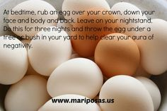 Aura cleansing with an egg is a hundreds of years old practice. Combined with a bath for your intention, it will help shift the energy around you to bring in the changes you need.