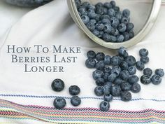 How to keep berries fresh longer so they'll last in the refrigerator for as many as 10 days!