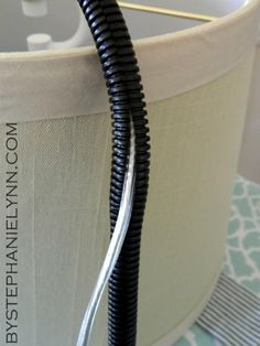 Under The Table and Dreaming: How to Make a No Sew Tailored Fabric Cord Cover for Lights and Lamps ~ by Stephanie Lynn