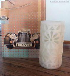 "LED Wachslampe ""Blume"" und GESCHENK TASCHE ""Classic Car""Neuware♥1 x…"