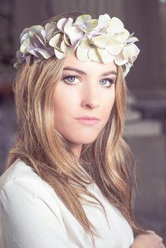Corona de flores, corona de hortensias para el pelo