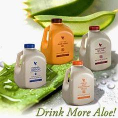 Aloe drinking gels...