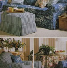 Butterick H510 Slipcovers and Pillows Pattern Uncut Waverly