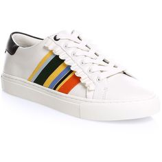7141819328 Tory Burch Ruffle Sneakers ( 228) ❤ liked on Polyvore featuring shoes
