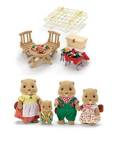 Another great find on #zulily! Beaver Family & Picnic Play Set #zulilyfinds