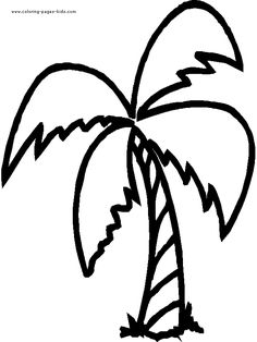 Cute Jungle Tree Coloring Pages  palm trees etc  Pinterest
