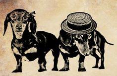 dachshund weiner dog png clip art Digital by VellasCollageSheets, $1.75