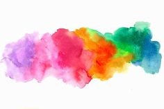 watercolor splatter rainbow - down my spine, with black ...