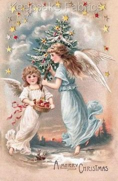 Two Sweet Christmas Angels Quilt Block Multi Sizes FrEE ShiPPinG WoRld WiDE (G8