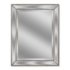 allen roth 30 in x 40 in silver beveled rectangle framed on wall mirrors id=49898