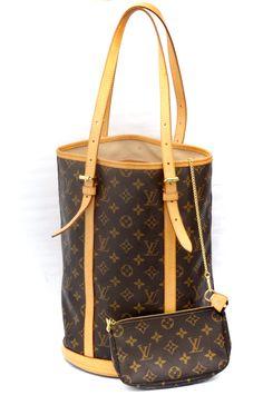 Louis Vuitton Bucket GM Monogram Shoulder Bag